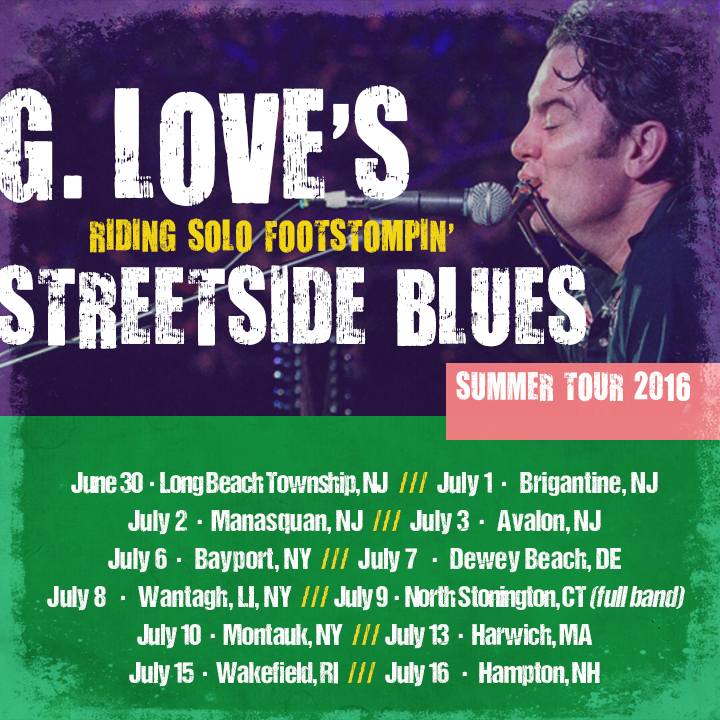 G. Love Solo Tour